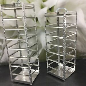 Tall Earring Display Stand Metal Rotating For 2x3 Or 2x2 Earring Cards 84 Pair