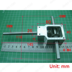 Diy 90 Worm Right Angle Gearbox Speed Reducer Transmission Ratio 1 1 Shaft 8mm