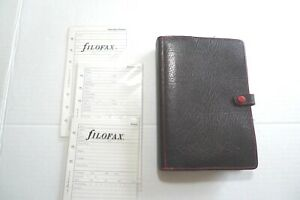 Filofax Leather Planner New Old Stock Inserts Made In Uk 1985 Vintage