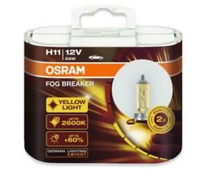 Osram H11 64211fbr Fog Breaker 2600k 12v55w Globe Deep Yellow Light Car Lamp