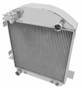 3 Core Aluminum Radiator For Model T Bucket Ford Engine 1924 1927 1925 1926