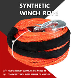 X Bull Winch Synthetic Rope Line 2 5 100 23000lbs Recovery Cable 4wd Sleeve