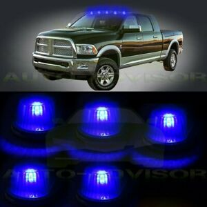 5x Cab Marker Clearance Light Smoke Cover Base Housing 12v Led For 73 97 Ford