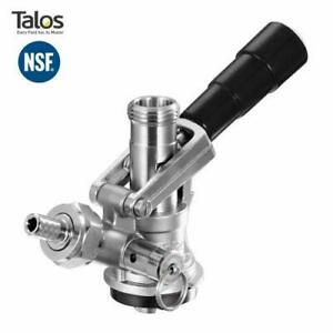 Talos S System Keg Tap Coupler Stainless Steel Ergonomic Handle