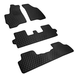 Toyota Highlander 2007 2013 Custom Fit Heavy Duty Diamond Leather Floor Mats