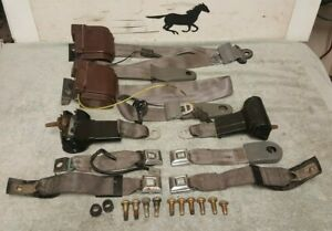 1987 1993 Ford Mustang Gt Convertible Front Rear Seat Belts Complete Used
