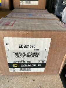 Square D Edb24030 2 Pole 30 Amp 480y 277v Circuit Breaker New In Original Box