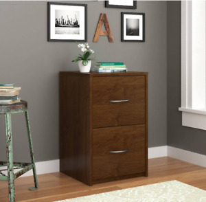 Ameriwood 2 Drawer File Cabinet Document Office Wood Storage Home Furniture New