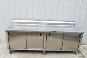 Winholt 96 Stainless Steel Enclosed Storage Cabinet