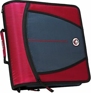 Case it Mighty Zip Tab 3 inch Zipper Binder Red D 146 red