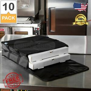 10 Pack Insulated Catering Pizza Food Delivery Carrier Hot Bag Box Black 18 16