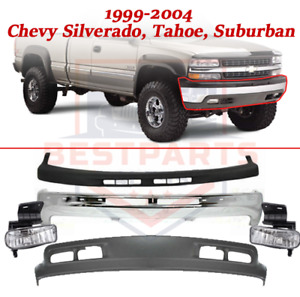 Front Bumper Kit With Fog Lights For 1999 2004 Chevy Silverado Tahoe Suburban