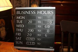 Headline Sign Business Hours Days Of The Week Approx 13 X 14