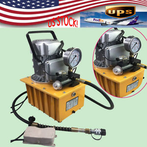 Electric Hydraulic Pump Power Pack 2 Stage Solenoid Valve 10k Psi 7l 110v Usa