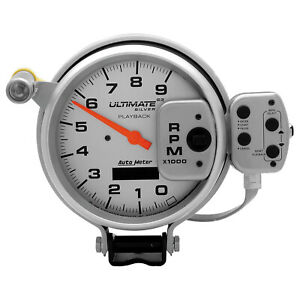 Autometer 6874 Tachometer Ultimate Series Playback 0 9000 Rpm 5 In Analog Elec