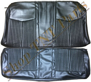 1970 Plymouth Duster 340 Coupe Rear Back Seat Covers Black Upholstery Vinyl