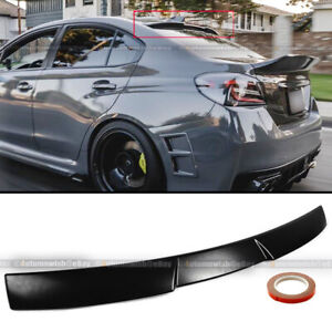 Fit 15 19 Wrx Sti Impreza Unpainted Jdm V Style Rear Window Roof Spoiler Wing