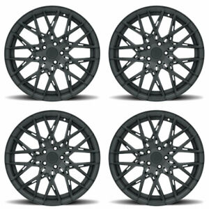 19 Xo Phoenix Black 19x8 5 19x9 5 Forged Wheels Rims Fits Ford Mustang Gt