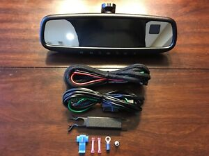 Gentex 453 Auto Dimming Rear View Mirror Kit Compass Temperature Homelink