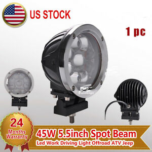 1x 5 5 45w Round Spot Led Work Light Driving Fog Lamp For Offroad Jeep Truck