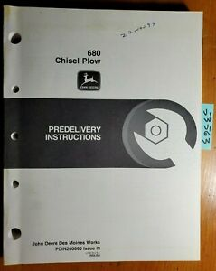 John Deere 680 Chisel Plow Predelivery Instructions Manual Pdin200660 I9 9 99