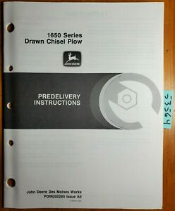 John Deere 1650 Series Drawn Chisel Plow Predelivery Instructions Manual 1 90