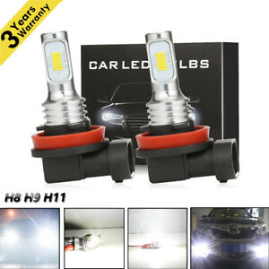 Isincer H11 Led Headlight Super Bright Bulbs Kit 330000lm Hi Lo Beam 6000k New