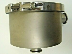 Leybold Stainless Steel Refillable Right Angle Trap 8 Dn25kf