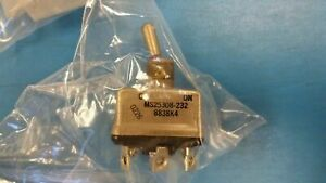 1 Pc Ms25308 232 8838k4 Eaton Toggle Switch 4pdt On on Latched 25a 28vdc