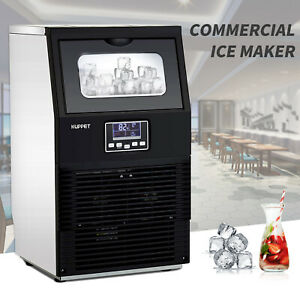 Portable Steel Stainless Commercial Ice Maker Auto Built in Cube Making Machine