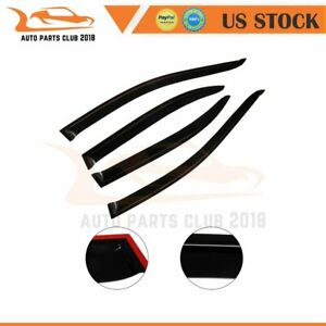 4x Fit For 2003 2005 Toyota Corolla Style New Window Vent Deflector Black