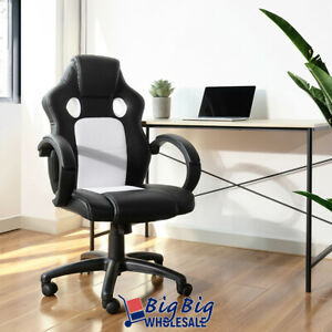Gaming Chair Computer Office Desk Seat Racing Style Swivel Adjustable High Back