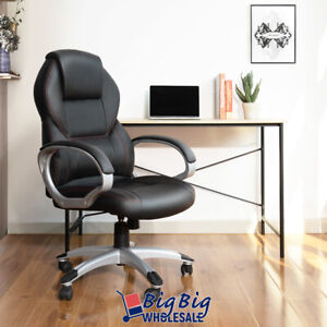 Modern Office Chair High Back Excecutive Leather Computer Desk Task Chair Swivel