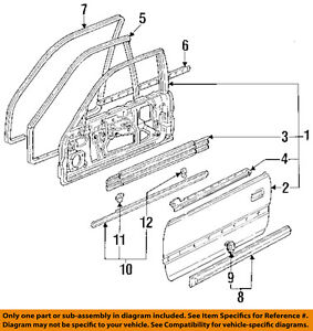 Honda Oem 92 93 Accord Front Door body Side Molding Right 75302sm2a11