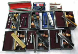 Lot Of 10 Microtome Blades In Cases Thomas Ao