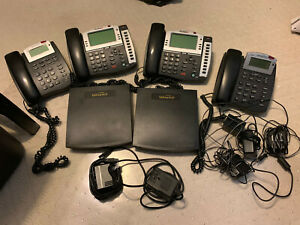 Talkswitch Ct ts001 1 Pbx Phone System 2 Switches And 4 Phones