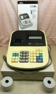 Royal 435dx Electronic Cash Register Pos W 3 New Paper Rolls Free Shipping