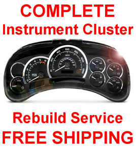 2002 2006 Cadillac Escalade Speedometer Instrument Gauge Cluster Panel Repair
