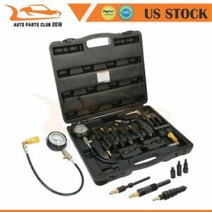 0 1000psi Diesel Engine Compression Tester Gauge Set Kit For Car Tractor Trucks