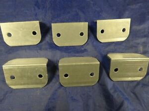 1 1 2 X 2 Aluminum Angle 1 8 Thick 3 In Length With 3 8 Holes 6 Pieces