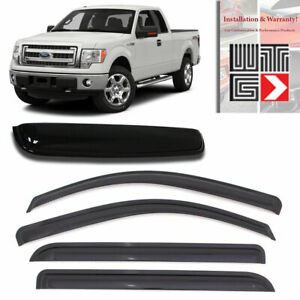 Window Sunroof 5pc Visor For 2004 2014 Ford F 150 F150 Supercab Extended Cab