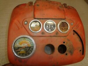 Farmall 300 Utility Dash instrument Housing With Instrument Gauge Channel