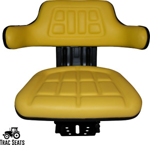 Yellow John Deere 1020 1530 2020 2030 Tractor Waffle Style Suspension Seat