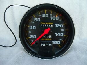 Autometer Pro comp Series Speedometer 0 160 Mph 5 Dia Mechanical 5154 Free Ship