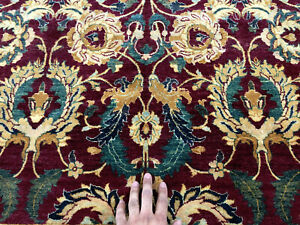 5x8 Red Vintage Rug Hand Knotted Wool Antique Fine Oriental Handmade 4x7 5x7 Ft
