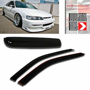 Window Sunroof 3pc Visor Guard Smoke For 1994 1997 Honda Accord Coupe 2 Door