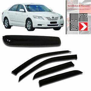 Window Sunroof 5pc Visor Rain Shade Guard 2007 2011 Toyota Camry 4 Door Sedan