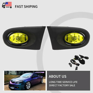 Fit For Acura Rsx 2002 2004 Yellow Lens Fog Lights With Switch Fog Lamp Cover