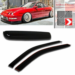 Window Sunroof 3pc Visor Shade Rain Guard For 1994 2001 Acura Integra 2 Door