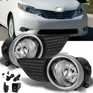 Fit 2011 2015 Toyota Sienna Clear Bumper Fog Lights Driving Lamp Switch bulb
